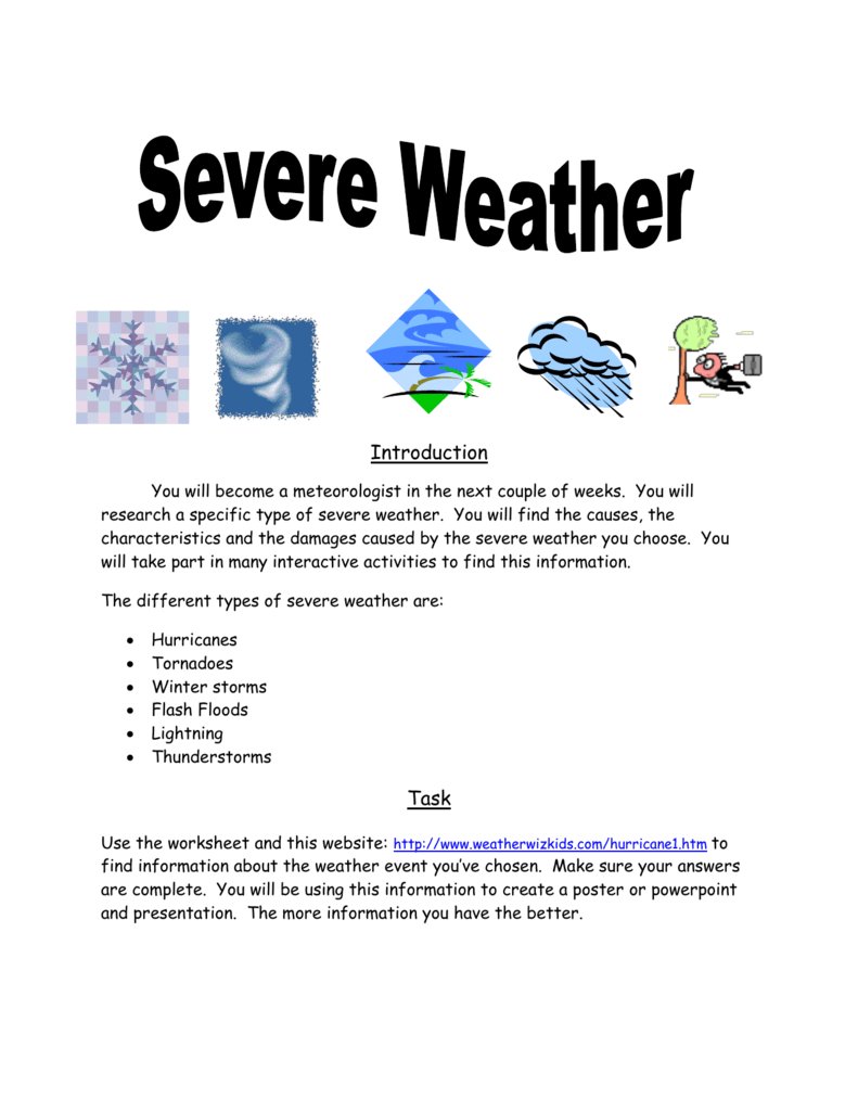 Severe Weather Packet
