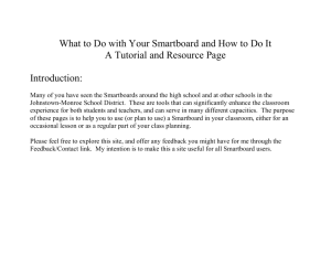 What to Do with Your Smartboard, and How to Do It