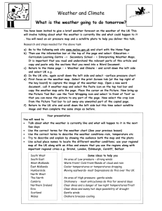 8.2 Worksheet on how to present a weather forecast