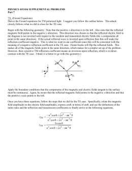 physics 415/416 supplemental problems
