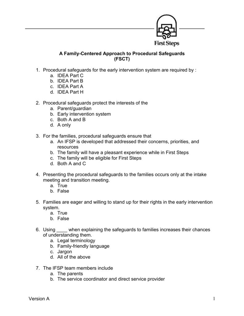 Procedural Safeguards Series Part Iv >> Direct Service Provider Orientation Training Assessment