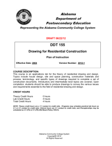 DDT 155 Drawing for Residential Construction