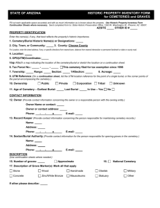 Historic Property Inventory Form for Cemeteries & Graves