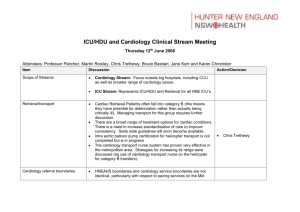 ICU/HDU and Cardiology Clinical Stream Meeting