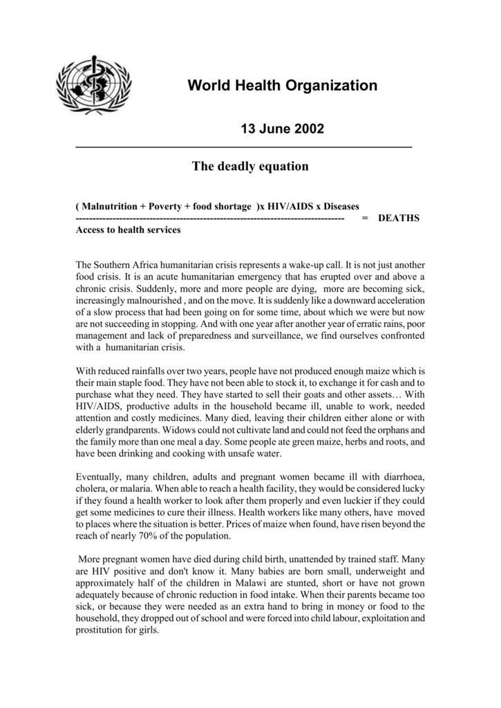13 June 2002 - World Health Organization