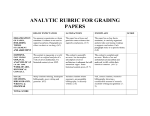 AH_ANALYTIC RUBRIC FOR GRADING PAPERS