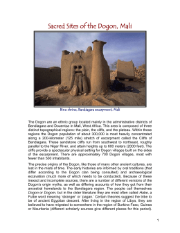 Sacred Sites of the Dogon, Mali