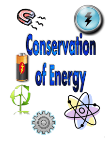Conservation of Energy Review Guide