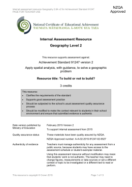 IB Geography Internal Assessment Titles