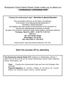 Brandywine School District Parent Center invites you to attend our