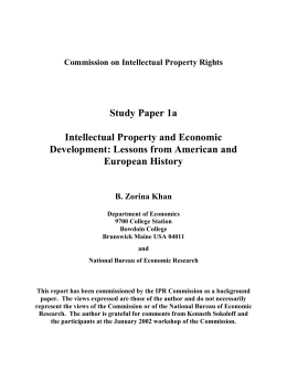 intellectual property and economic development lessons