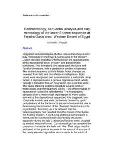 Assiut university researches Sedimentology, sequential analysis
