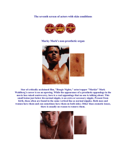The seventh screen of actors with skin conditions