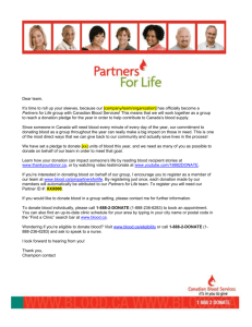 Email Template - Canadian Blood Services