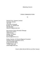 crisis communications - University Libraries