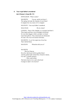macbeth act 2 summary and analysis