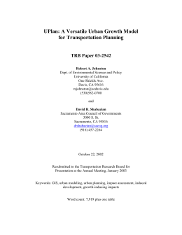 The UPLAN Urban Growth Model - Environmental Science & Policy