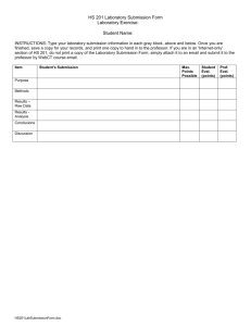 HS 201 Laboratory Submission Form