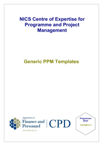Programme project management template