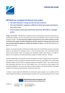 NET4GAS has completed the Reverse Flow project