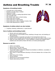 Asthma and Breathing Trouble