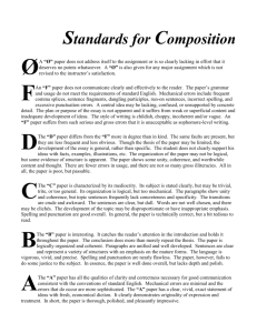 Standards for Composition