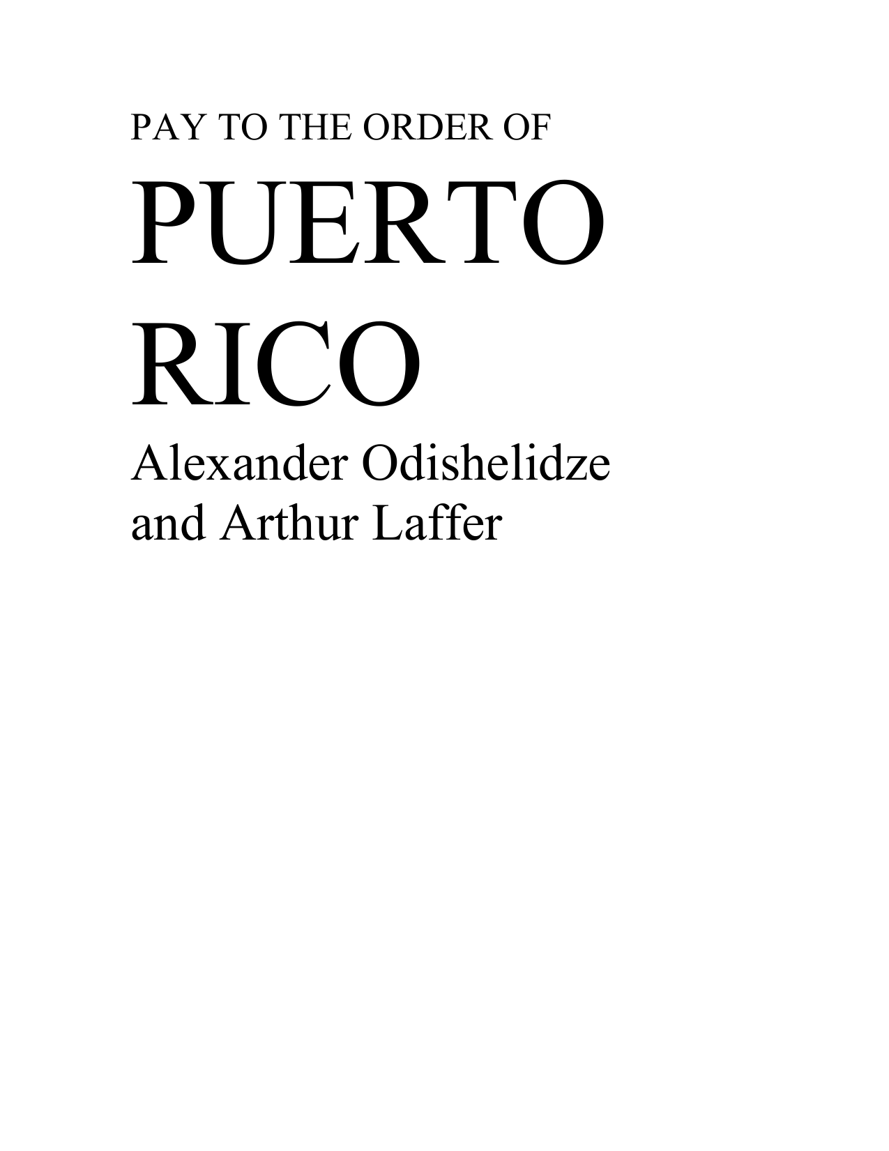 PAY TO THE ORDER OF - Puerto Rico Herald