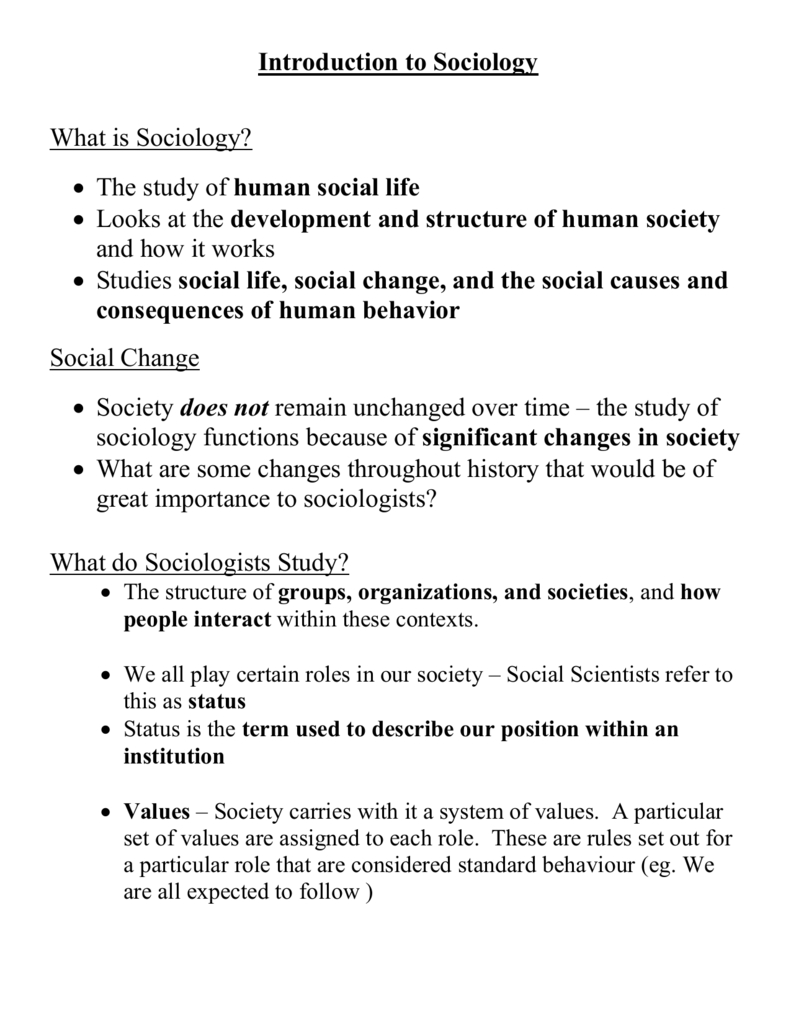 causes of social change in society