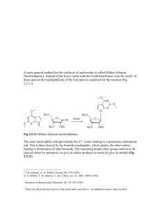 A more general method for the synthesis of nucleosides is called