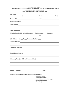 Warren Award Application