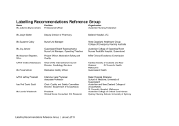 Labelling-Recommendations-Reference-Group