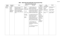Quality Improvement Plan - Canadian Mental Health Association