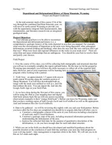 Depositional and Deformational History of Sheep Mountain, Wyoming