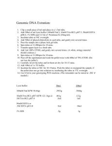 Genomic DNA Extration: