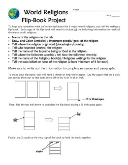 World Religions Flip-Book Project