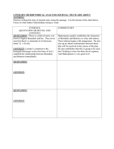 LITERARY OR RHETORICAL ANALYSIS JOURNAL