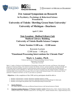 21st Annual Symposium on Research in Psychiatry, Psychology