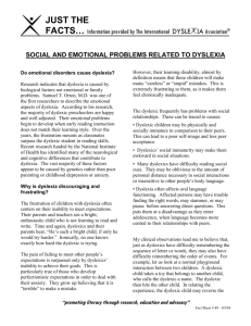 Social And Emotional Problems Related >> Dyslexia And The Emotions