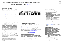 (INSERT ORGANIZATION NAME) and Keep America Beautiful in