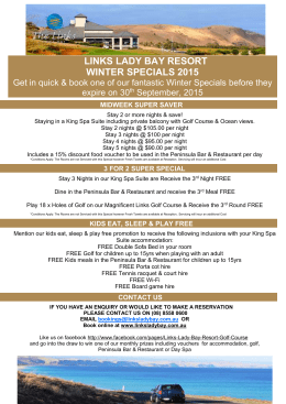 View Winter Specials - Links Lady Bay Golf Course