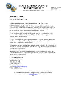 7-8-2013 Granite Mountain Hotshot Memorial news release