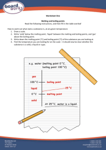 Boardworks Solids Liquids and Gases worksheet