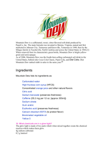 Mountain Dew information