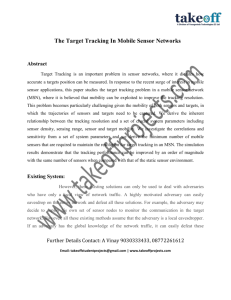 The Target Tracking In Mobile Sensor Networks Abstract Target