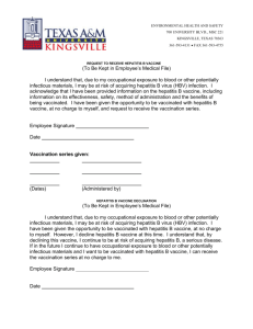 Hepatitis B Vaccination Form - Texas A&M University