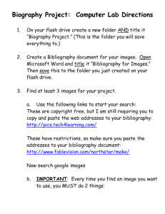 Biography Project: Computer Lab Directions