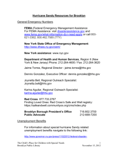 Hurricane Sandy Resources