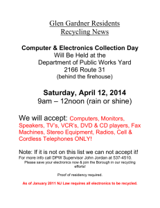 Electronics Recycling 2014