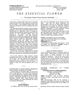 PATRICIA MEYER CHT - Flower Essence Therapy by Patricia Meyer