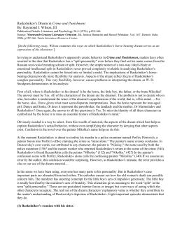 An analysis of raskolnikov dostoevskys views on criminal justice